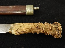 German WWII Era Stag Handle Knife & Fork Set W/S