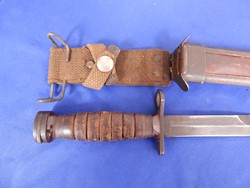 US M-1 Carbine Bayonet is Vietnamese Mfg Scabbard
